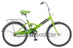 Велосипед 24'' FS-24 NOVATRACK (1ск, скл. рама, нож. тормоз, обода алюм, багаж) 137238 серо-зеленый