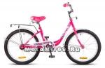 Велосипед 20 STELS PILOT-200 Lady (1ск,рама сталь 12,задн.ножн.торм,перд.торм.V-br) розовый