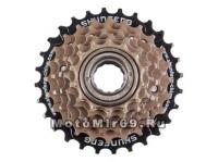 Трещотка 6 ск.SHUNFENG 14-16-18-21-24-28T дискретная коричневая