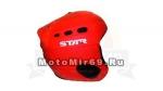 Шлем горнолыжный STAR S1-10 (шлем с клипсой для очков Пожарно-красного цвета, матовый)