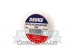 Изолента ABRO ET 912 белая (19мм.х 9,1мм.)