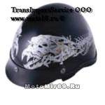 Шлем открытый YM-610 YAMAPA (каска типа чоппер, кожа в кор-ке 2 шт.)