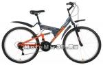 Велосипед 26 FORWARD ALTAIR MTB FS Disk (2х подвес,18ск,рама сталь 16,торм.мех.диск) желтый/серый