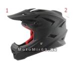 Шлем вело кроссовый CIGNA T-42, черный размеры L