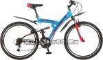 Велосипед 26 STINGER BANZAI (2х.подв,18ск,рама ст.18,20 торм.обод.V-Brake) 117352 синий