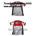 Рубашка МОТОСПОРТ (с коротким рукавом, с воротником) бело-красная Honda RB050