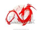 Наклейка светоотражающая Дракон завернутый в форме знака бесконечности
