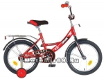 Велосипед 16 NOVATRACK URBAN (1ск,рама сталь,тормоз нож.,цвет.крылья, баг.хром) красный