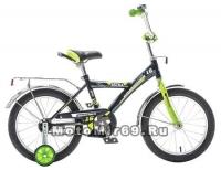 Велосипед 14'' NOVATRACK ASTRA (1ск,защита А-тип,крылья и баг. хром) черный