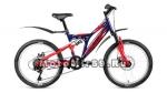 Велосипед 20 FORWARD ALTAIR MTB FS DISC 6 ск, рама 13) синий/красный,зеленый,черный матовый
